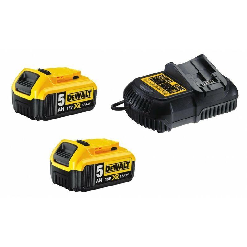 Dewalt - pack 2 batteries xr 18v 5ah
