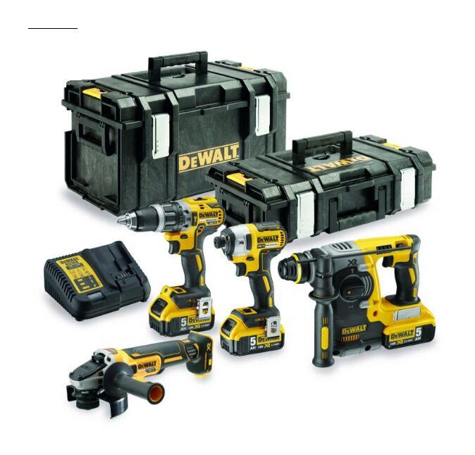 DEWALT Pack 4 outils DEWALT XR 18V 5Ah Li-Ion - DCK422P3