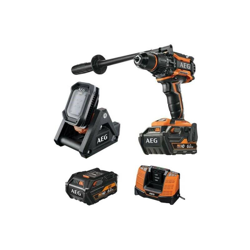 A.e.g - Pack AEG Perceuse percussion Brushless 18V BSB18BL-602C - Lampe