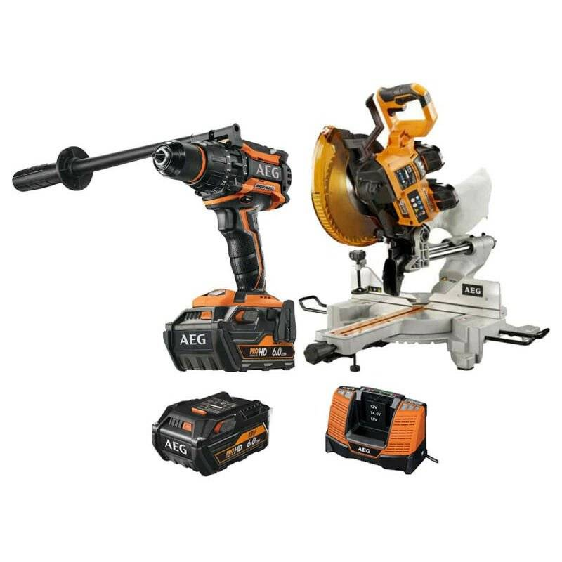 A.e.g - Pack AEG Perceuse percussion Brushless 18V BSB18BL-602C - Scie