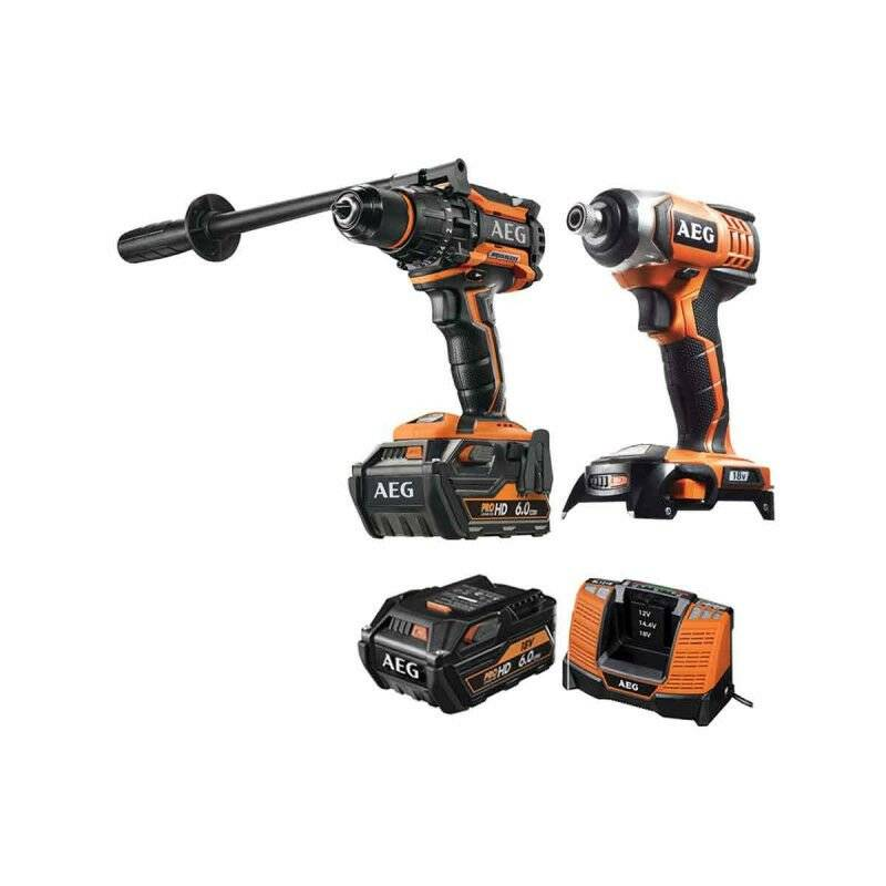 A.e.g - Pack AEG Perceuse percussion Brushless 18V BSB18BL-602C