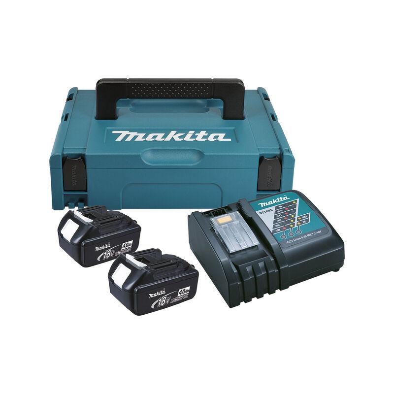 Makita 19866-5 Pack Énergie 18V Li-Ion (2x 4.0Ah) dans MAKPAC