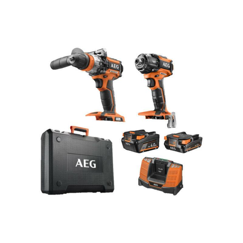 AEG POWERTOOLS Pack brushless Visseuse à chocs oléopneumatique AEG 18V sans batterie