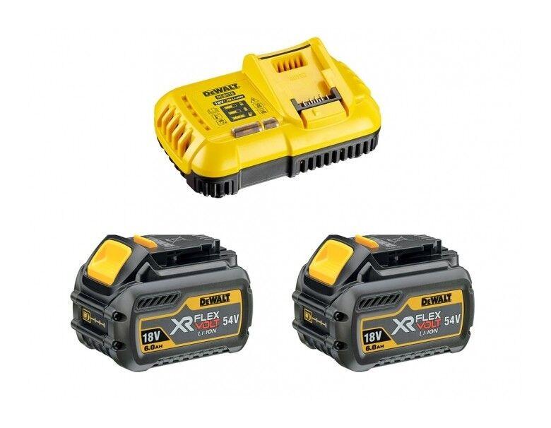 DEWALT Pack 2 batteries XR flexvolt 18V/54V 6AH/2AH LI-ON + chargeur Dewalt