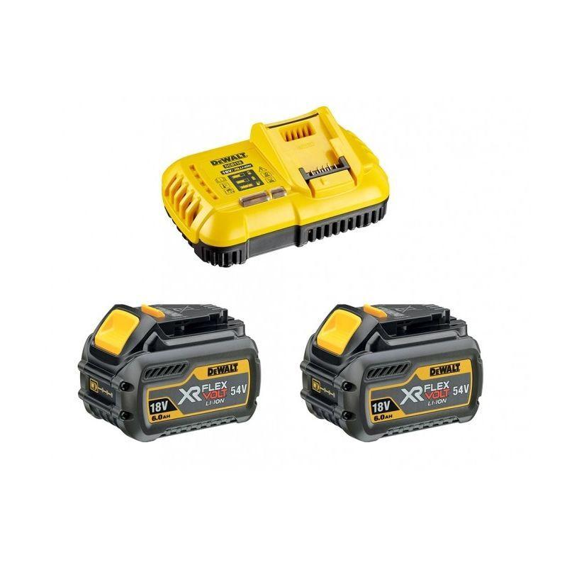 DEWALT Pack de démarrage DEWALT - FLEXVOLT - 2 batteries 6.0Ah 54V - DCB118T2