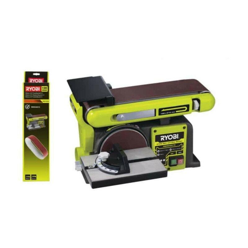 RYOBI Pack RYOBI Ponceuse à bande et à disque stationnaire 370W RBDS4601G - 5