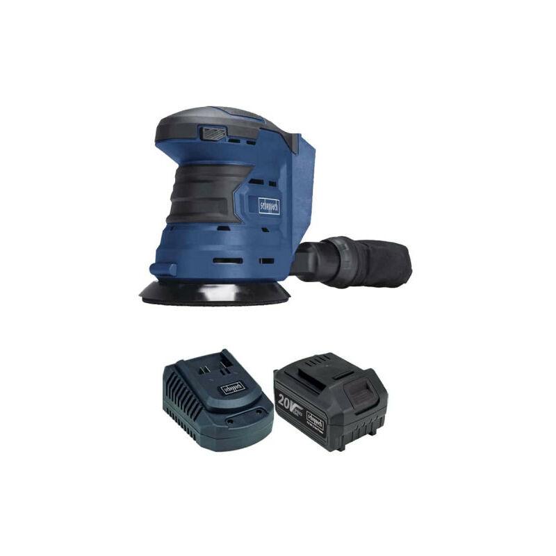 SCHEPPACH Pack SCHEPPACH Ponceuse excentrique sans fil 20V COS125-20ProS - 1