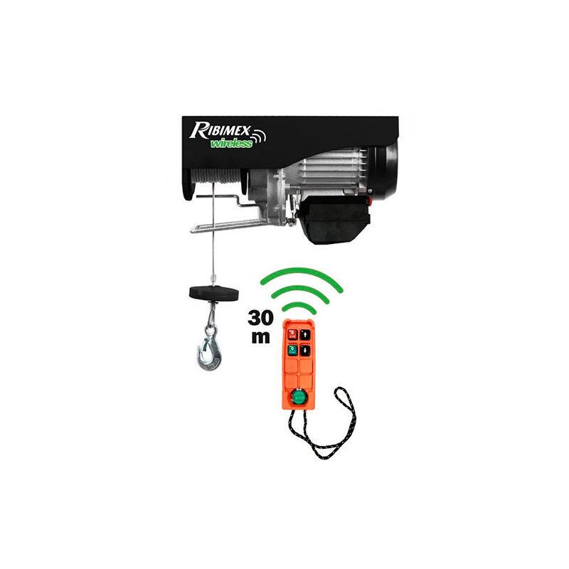 RIBIMEX Palan électrique moufle avec télécommande 230 V - 200/400 Kg