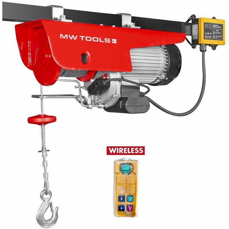 MW-TOOLS Palan électrique SANS FIL robuste 125/250 kg SH125-R - Mw-tools