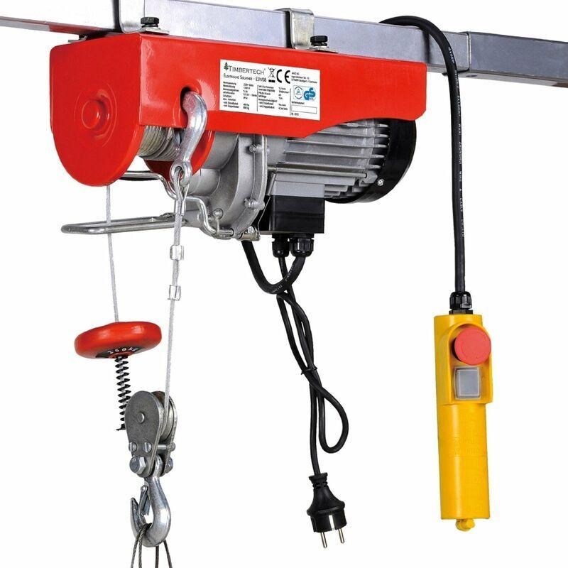 HELLOSHOP26 Palan treuil électrique pro avec télécommande 1300 W 400/800 kg outils