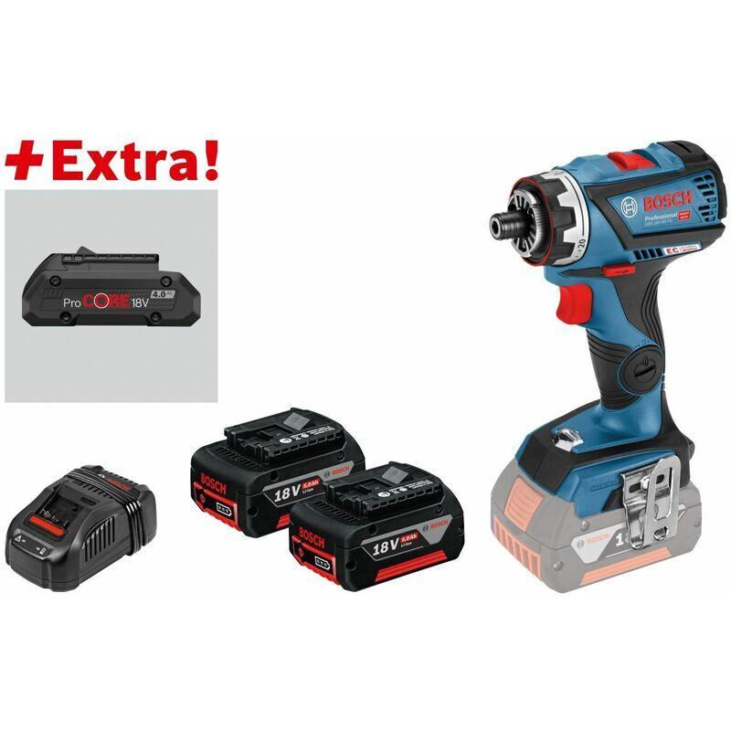 Bosch Perceuse-visseuse sans-fil GSR 18V-60 FC, 2 batteries 5,0 Ah,