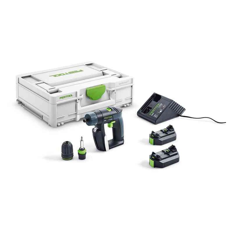 Festool Perceuse-visseuse sans fil CXS 2,6-Plus + 2 x batterie +