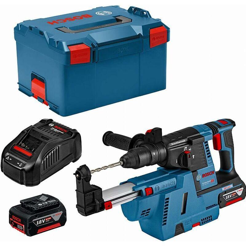 BOSCH Perforateur burineur GBH 18 V-26 F + chargeur GDE 18V-16 + 2 Batteries