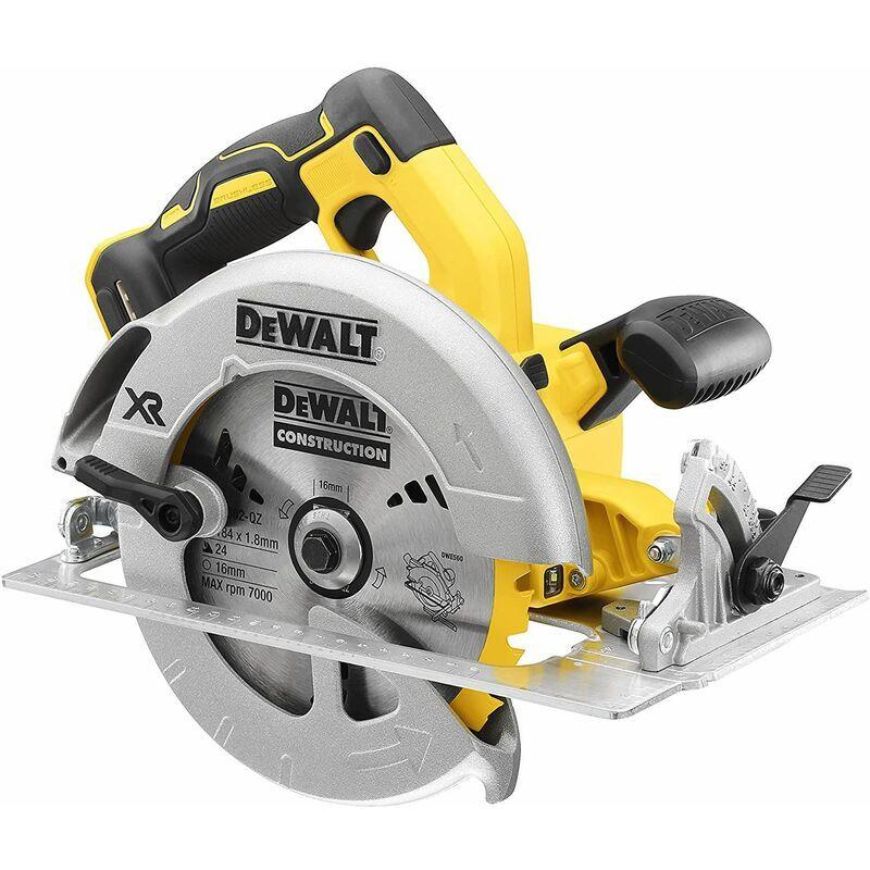 DEWALT Scie circulaire 18V DEWALT XR Brushless - Sans batterie, ni chargeur