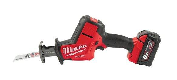 Milwaukee - Scie sabre HACKZALL Fuel 18 V Li-Ion 5.0 Ah 22 mm avec HD