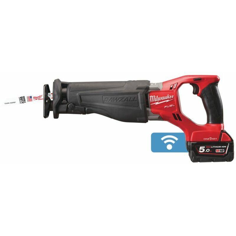 MILWAUKEE Scie Sabre Milwaukee Fuel One Key 18V 5,0 Ah Bluetooth Livrée Avec 2