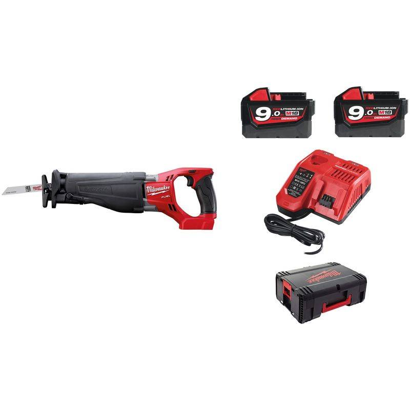 MILWAUKEE Scie sabre MILWAUKEE SAWZALL M18 CSX-902X - 2 batteries 18V 9.0Ah,