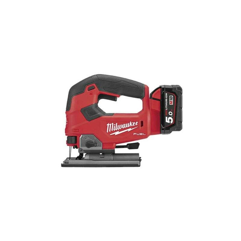 MILWAUKEE Scie sauteuse poignée MILWAUKEE M18 FJS-502X - 2 batteries 5.0 Ah - 1