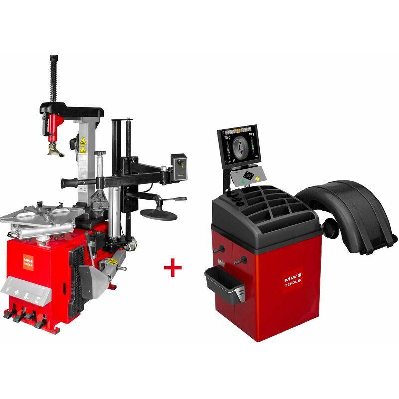 MW-TOOLS Set démonte-pneu BT300HM + équilibreuse de roues BB500 MW-Tools BT300HM