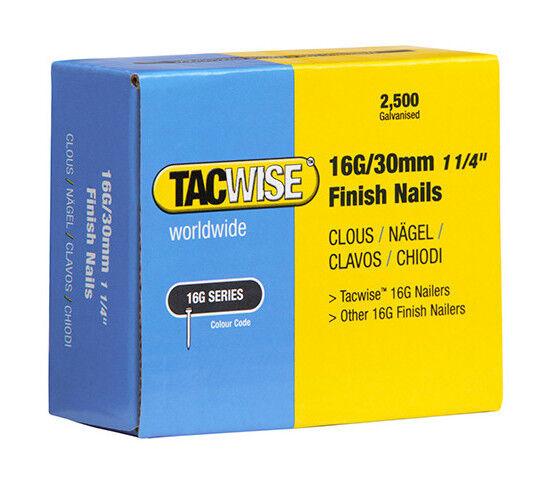 TACWISE Boîte de 2500 clous de finition de type 16G L. 30 mm - TA-0293