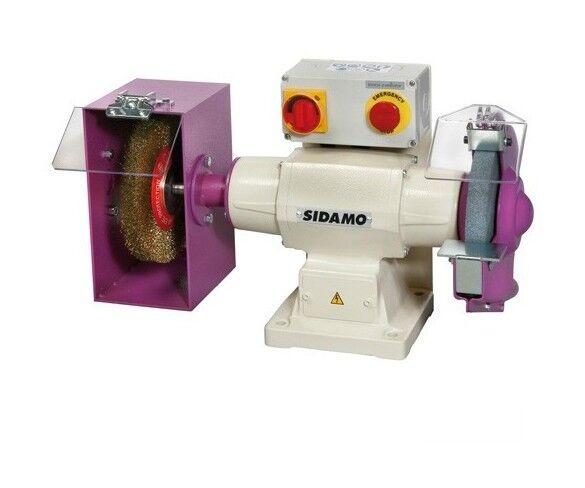 SIDAMO Touret meule - brosse 140 D. 200 mm - 230V 750W - 20113005 - Sidamo
