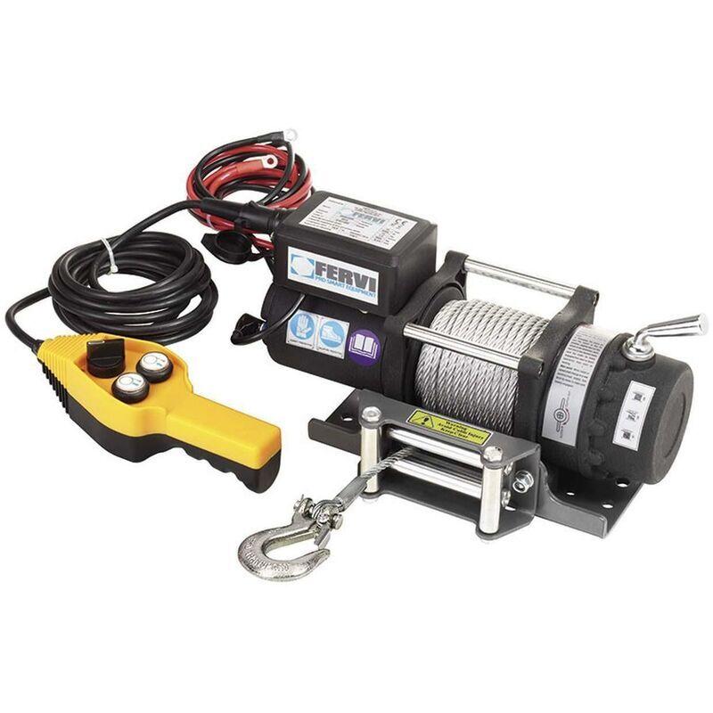 FERVI Treuil Palan Electrique Levage A Cable 12V Fervi 0630/2200