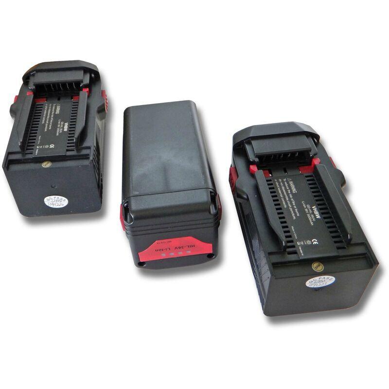 VHBW 3x Li-Ion batterie 3000mAh (36V) pour outils Hilti TE6A, TE 6A, TE7A