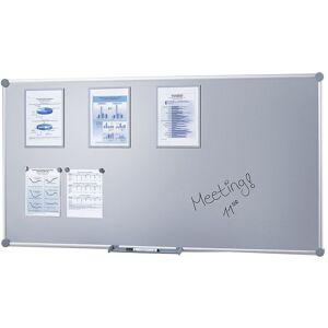 CERTEO Tableau d'affichage - surface en tôle d'acier - l x h 1800 x 900 mm - Publicité