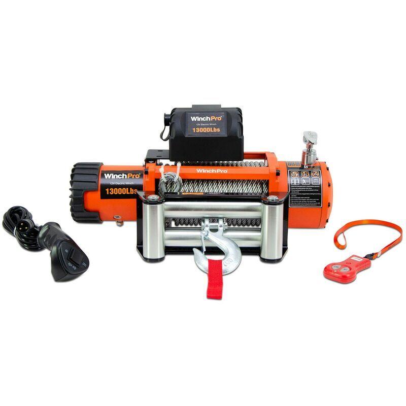 WinchPro - Treuil Électrique 12V 5900kg/13000lbs, Câble En Acier De