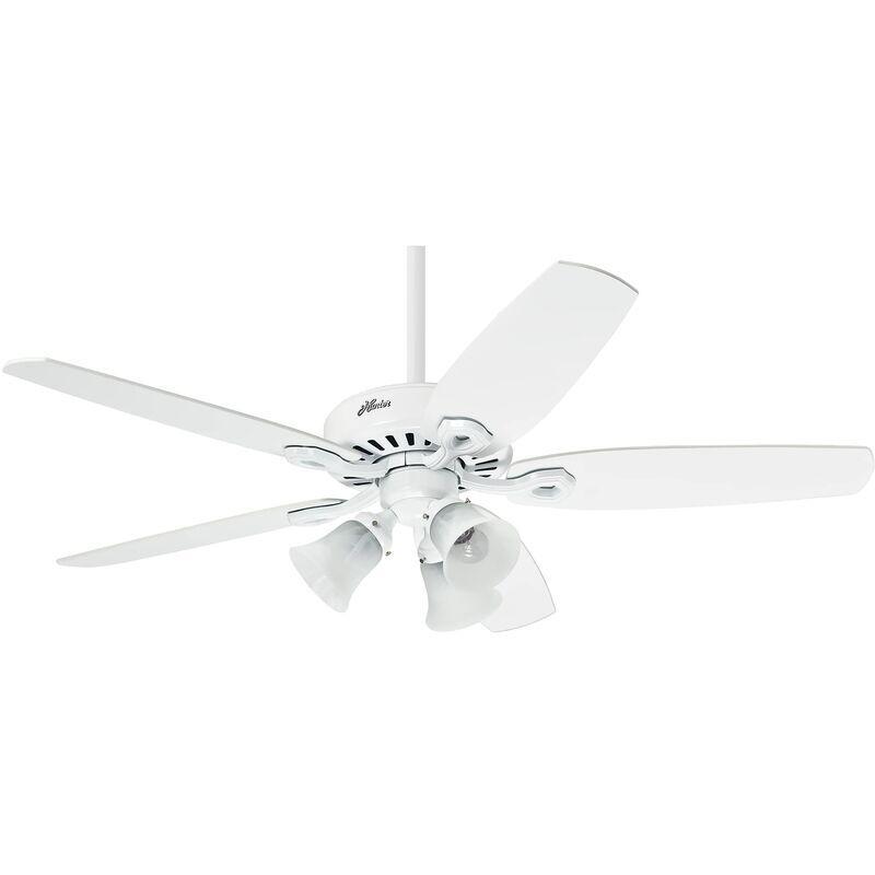 HUNTER FANS Ventilateur de plafond Builder Plus Blanc 132 cm