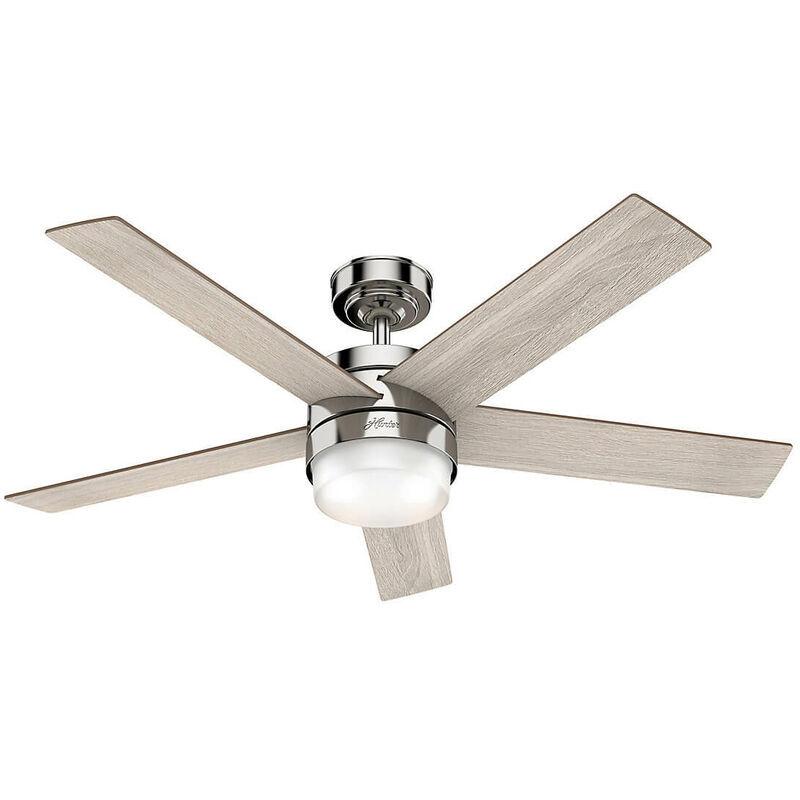 Hunter Fans - Ventilateur de plafond Claudette 132 cm avec éclairage