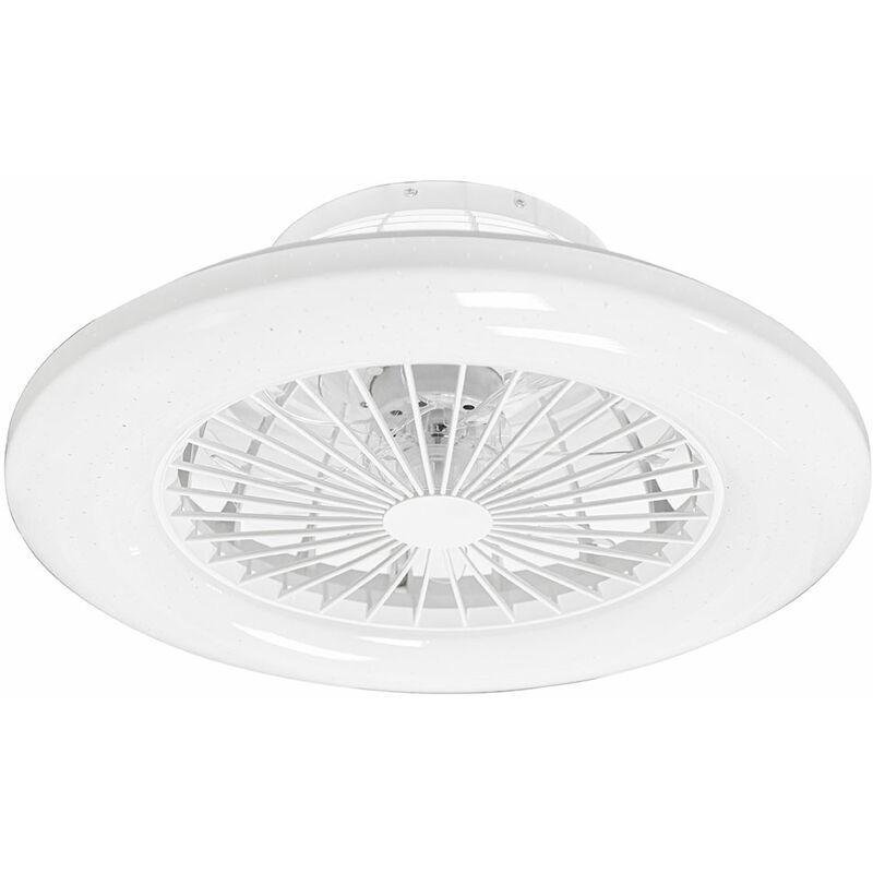 ETC-SHOP Ventilateur de plafond LED SILENCIEUX TÉLÉCOMMANDE effet étoile lumière