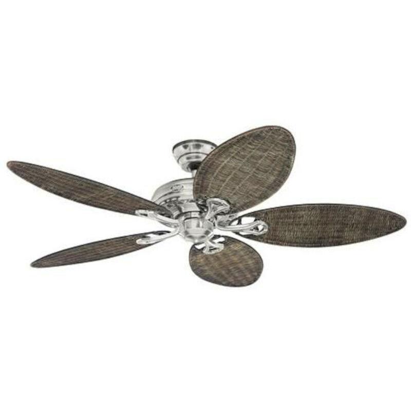 Hunter Fans - Ventilateur de plafond SAVOY Chrome brossé / pâles en