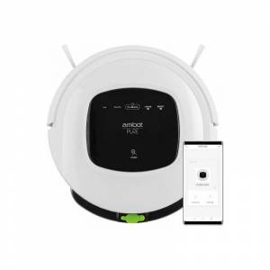 AMIBOT Robot aspirateur et laveur AMIBOT Pure H2O Connect - White - Publicité