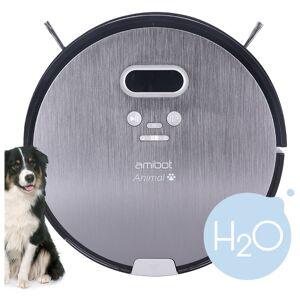 AMIBOT Robot aspirateur et laveur AMIBOT Animal Premium H2O - Gris - Publicité