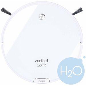 AMIBOT Robot aspirateur et laveur Spirit Ice H2O - White - Amibot - Publicité