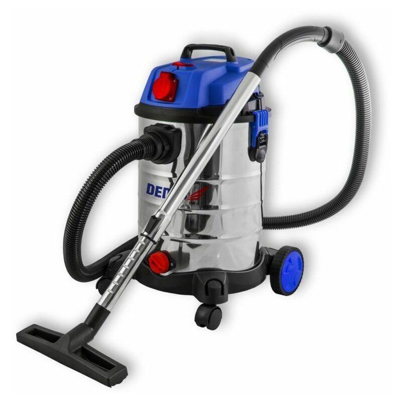 HUCOCO DTOOLS   Aspirateur industriel eau et poussière   1400 W + prise 2000W