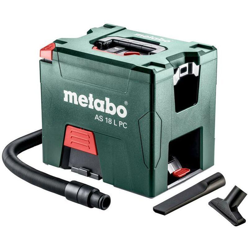 Metabo AS 18 L PC Aspirateur sans fil, 18V Li-Ion, carton, avec