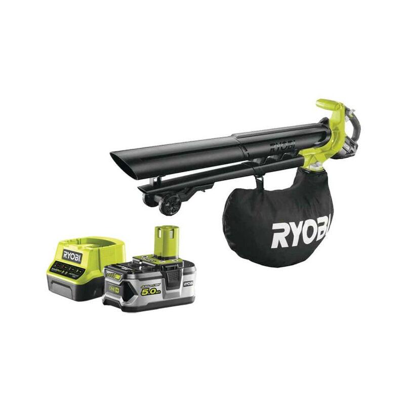 RYOBI Pack RYOBI Souffleur aspiro-broyeur 18V OnePlus Brushless OBV18 - 1