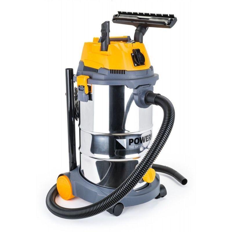 Hucoco - POWER TOOL   Aspirateur industriel 1600W sec/humide + Secoueur