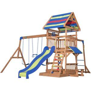 Backyard Discovery Northbrook aire de jeux en bois   Avec balançoire / - Publicité