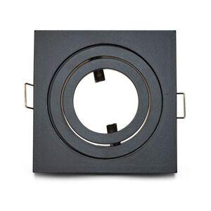 VISION-EL Support plafond pour spot LED Orientable Carré 88x88mm Finition Noir - Publicité