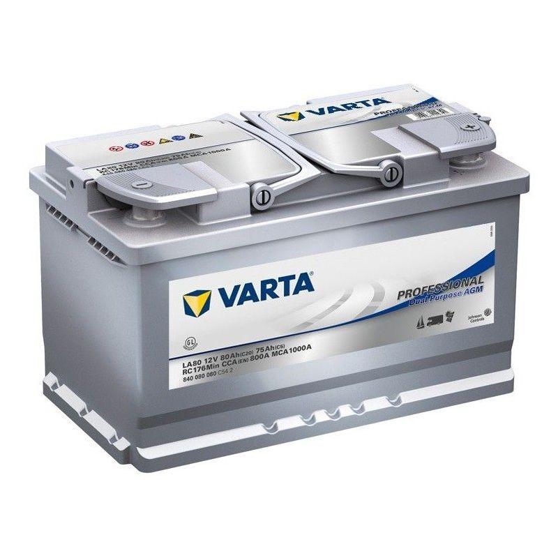 VARTA Batterie Decharge-Lente Varta Agm La80 12V 80Ah 800A