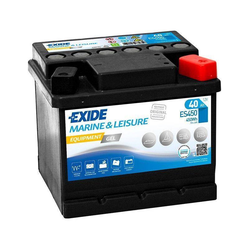 EXIDE Batterie décharge lente Exide Gel ES450 12v 40ah