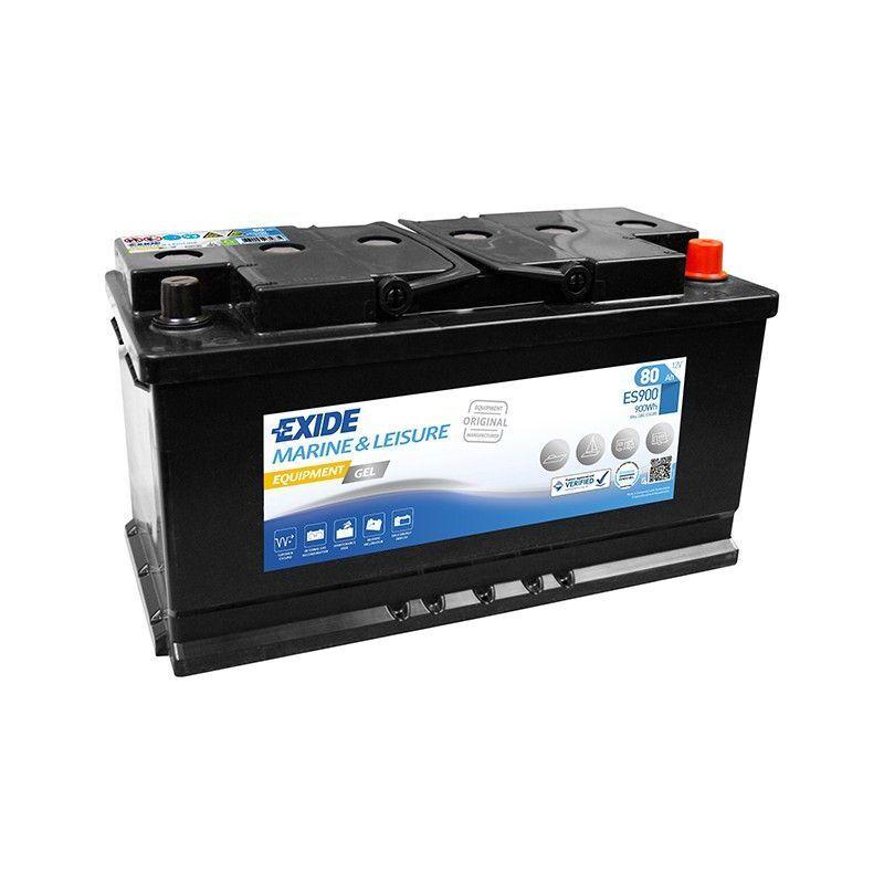 EXIDE Batterie décharge lente Exide Gel ES900 12v 80ah