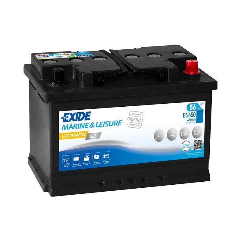 EXIDE Batterie décharge lente Exide Gel ES650 12v 56ah