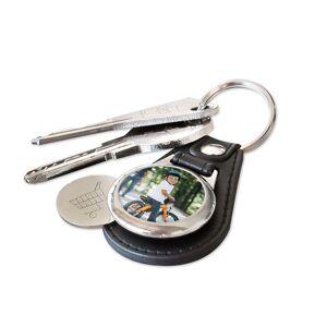Amikado Porte-clés cuir jeton de caddie personnalisé photo - Publicité