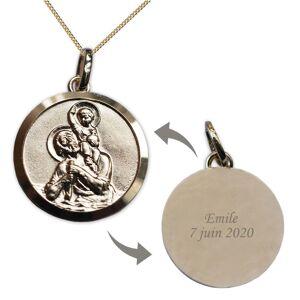 Amikado Médaille de Saint Christophe en plaqué or gravée - Publicité