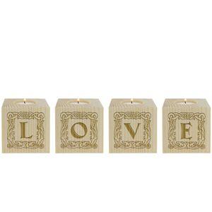 Amikado Bougeoir petit cube Lettres - Publicité