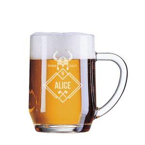 Amikado Chope de bière prénom gravé - Publicité
